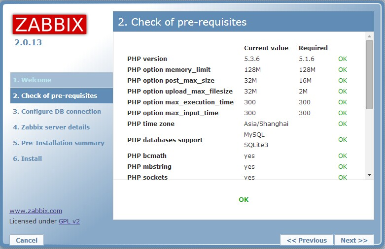 zabbix使用一 zabbix server编译安装