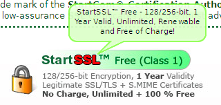 申请startssl一年免费ssl证书