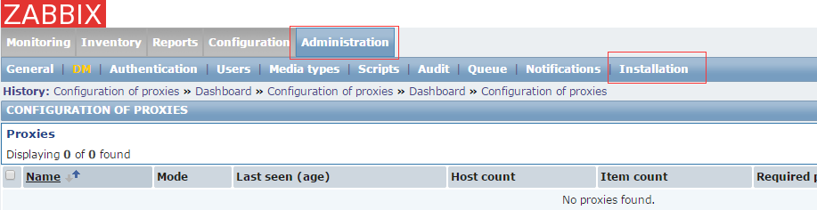 zabbix初始化之 隐藏Installation选项页、修改admin密码、禁用guest
