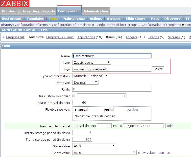 zabbix修改Template OS Linux模版使已使用内存(Used memory)更准确